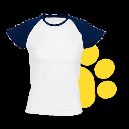 Camiseta de mujer bicolor